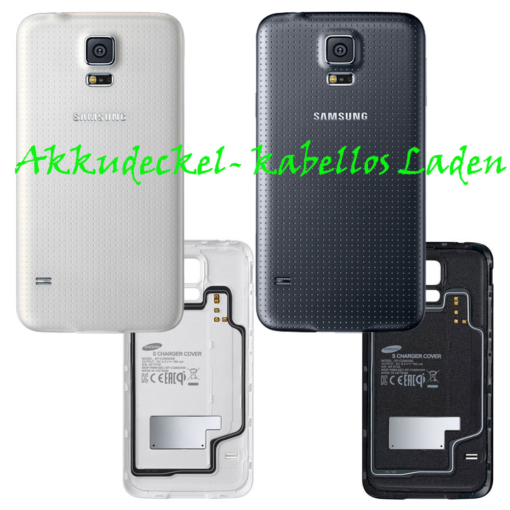 samsung original akkudeckel ep cg900 galaxy s5 kabellos wireless induktiv ebay. Black Bedroom Furniture Sets. Home Design Ideas